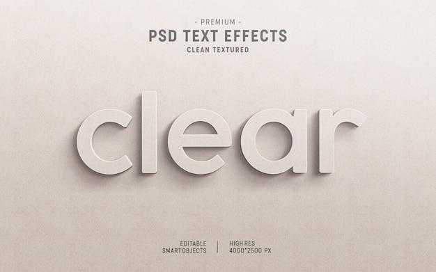 Maquete de efeito de texto em papel transparente 3d