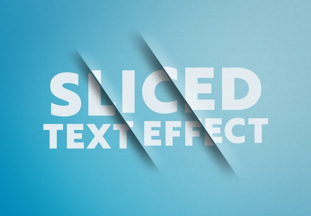 Maquete de efeito de texto fatiado