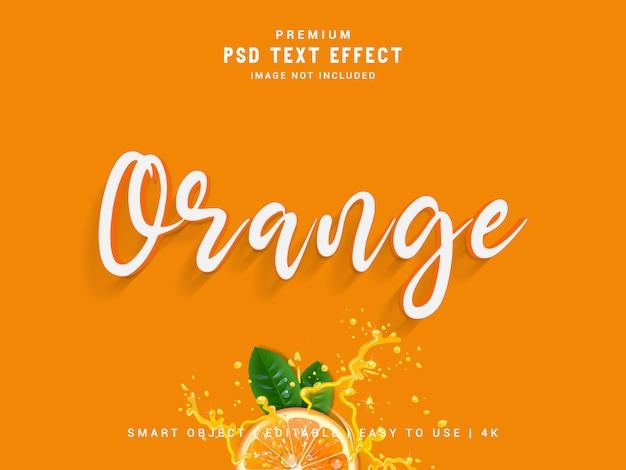 Maquete de efeito de texto laranja.