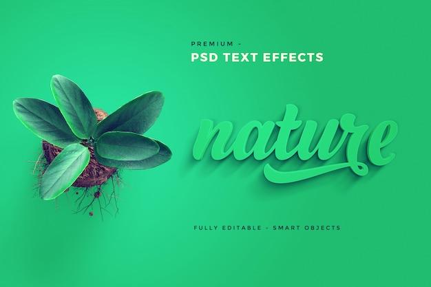 Maquete de efeito de texto natureza