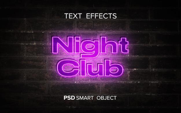 Maquete de efeito de texto neon