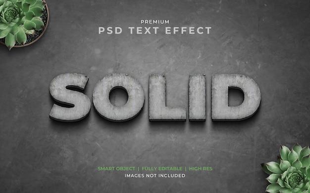 Maquete de efeito de texto psd de rocha sólida