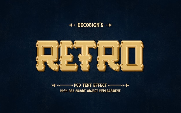 Maquete de efeito de texto retrô premium
