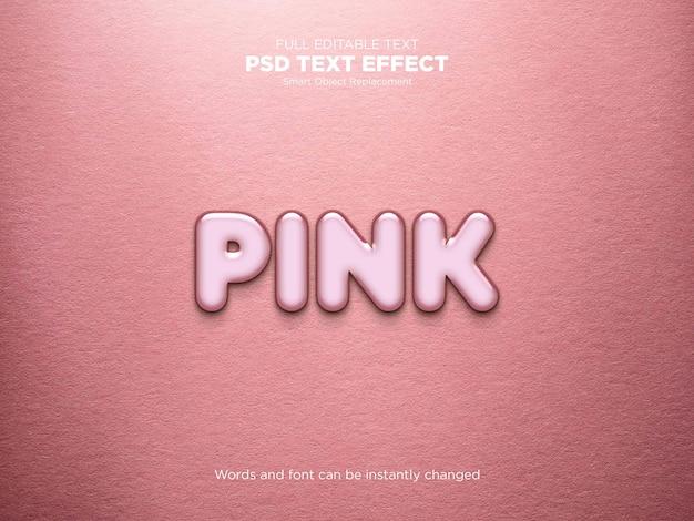 Maquete de efeito de texto rosa Psd Premium