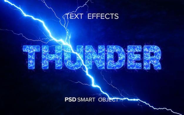 Maquete de efeito de texto trovão