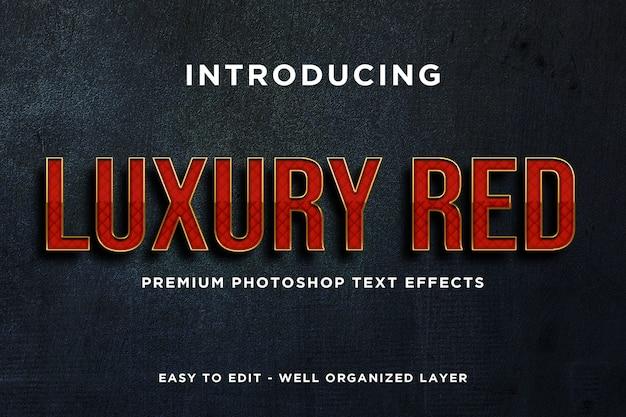 Maquete de efeito de texto vermelho de luxo premium psd
