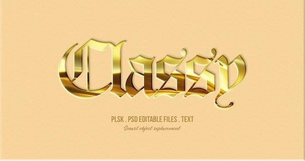 Maquete de efeito elegante estilo texto 3d