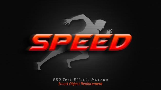 Maquete de efeitos de texto 3d de velocidade