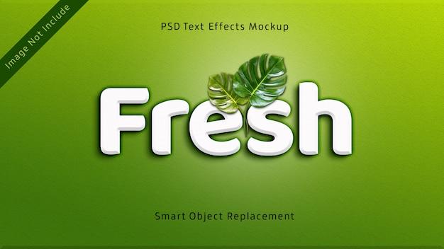 Maquete de efeitos de texto 3d fresco