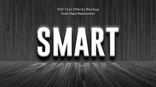 Maquete de efeitos de texto 3d inteligente
