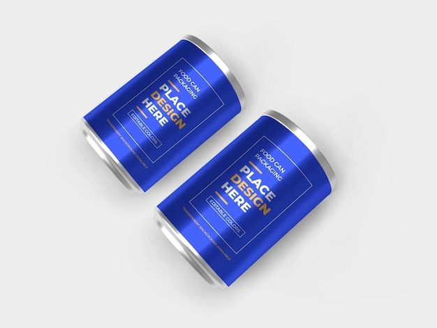 Maquete de embalagem de alumínio para latas de alimentos