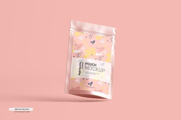 Maquete de embalagem de bolsa de suplemento alimentar