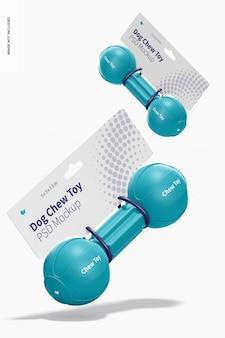 Maquete de embalagem de brinquedos para mastigar com barra de cachorro, caindo