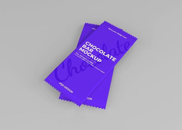 Maquete de embalagem de caixa de chocolate em renderização 3d