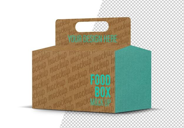 Maquete de embalagem de caixa de comida isolada