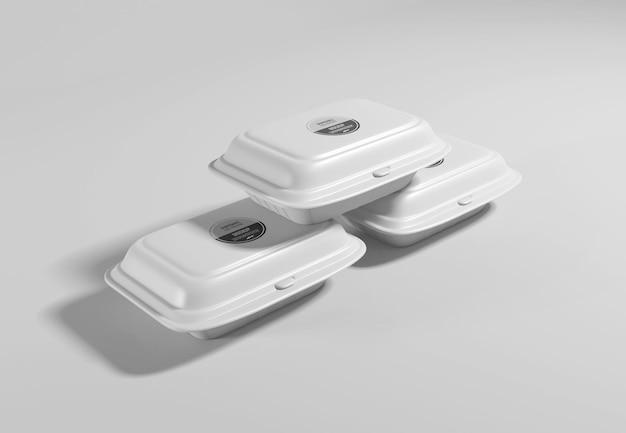 Maquete de embalagem de caixa de comida Psd Premium