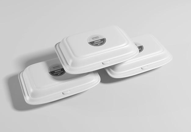 Maquete de embalagem de caixa de comida