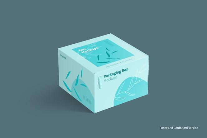 Maquete de embalagem de caixa de correio