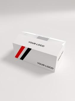Maquete de embalagem de caixa de lanche