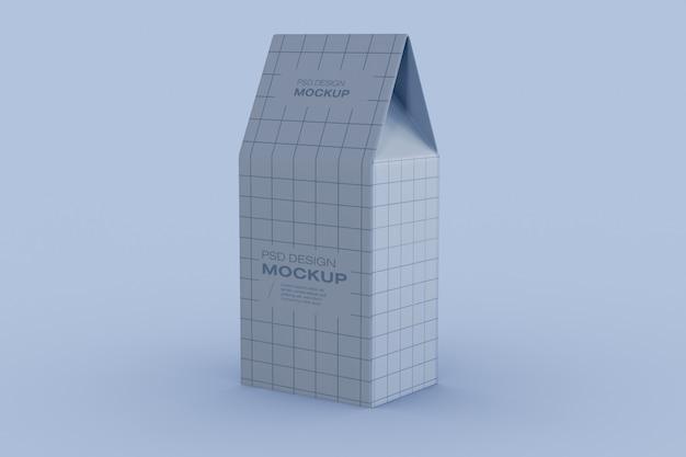 Maquete de embalagem de caixa de papel