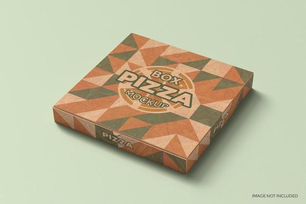 Maquete de embalagem de caixa de pizza