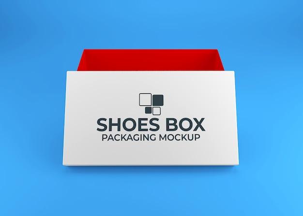 Maquete de embalagem de caixa de sapatos realista