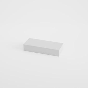 Maquete de embalagem de caixa em renderização 3d