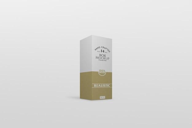Maquete de embalagem de caixa fina