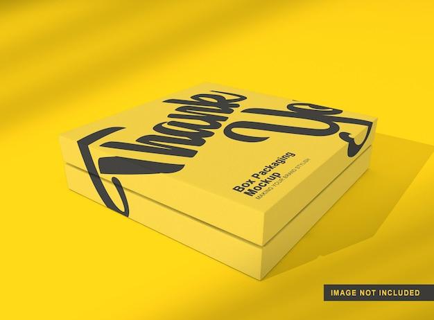 Maquete de embalagem de caixa isolada