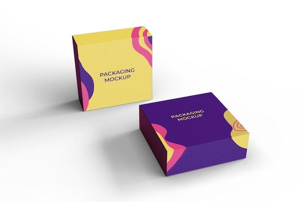 Maquete de embalagem de caixa para marca e identidade