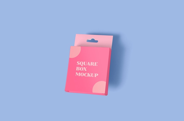 Maquete de embalagem de caixa quadrada minúscula Psd Premium