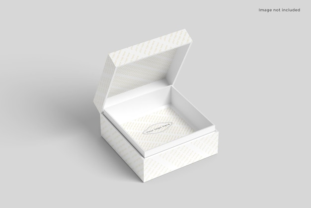 Maquete de embalagem de caixa quadrada