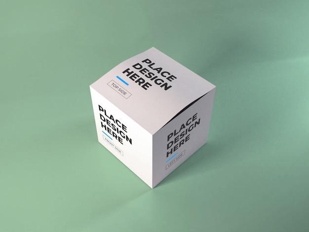 Maquete de embalagem de caixa realista