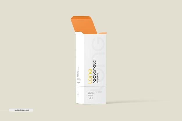 Maquete de embalagem de caixa retangular longa