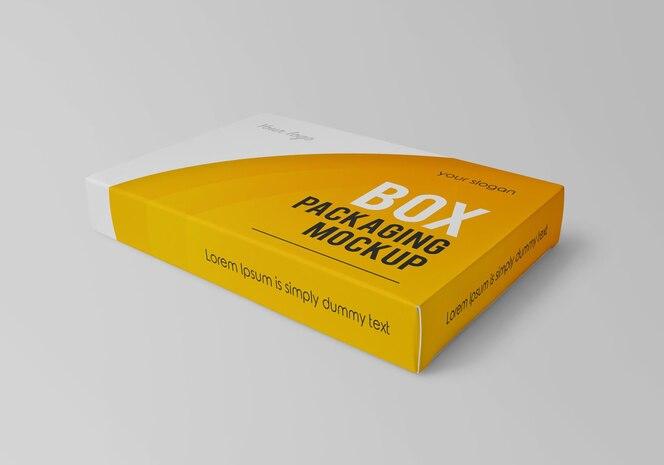 Maquete de embalagem de caixa