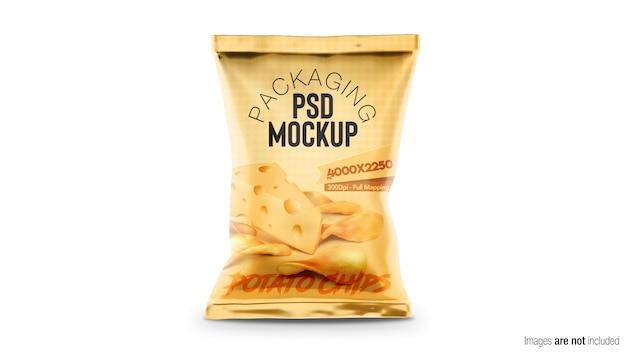 Maquete de embalagem de chips doypack