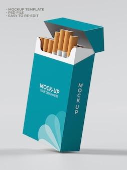 Maquete de embalagem de cigarro