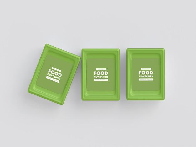 Maquete de embalagem de contêiner de alimentos