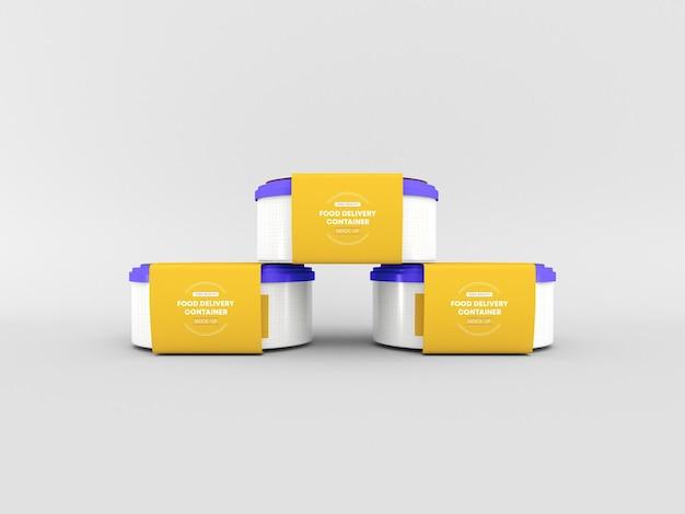 Maquete de embalagem de contêiner de entrega de alimentos