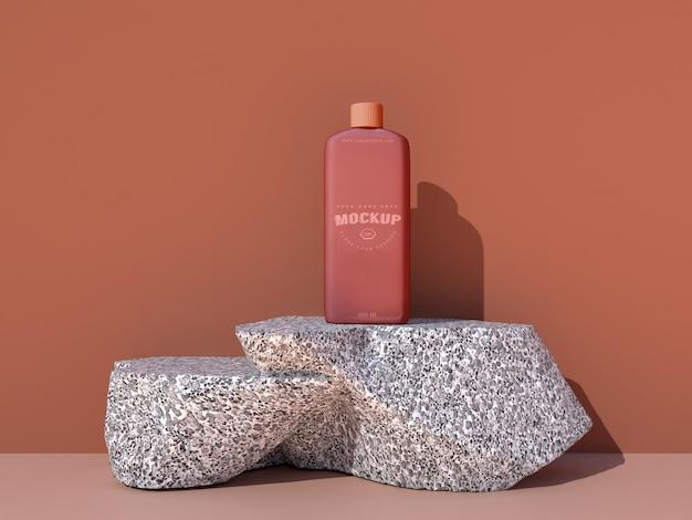 Maquete de embalagem de cosméticos para design de marca