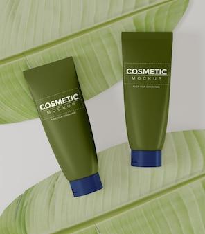 Maquete de embalagem de cosméticos