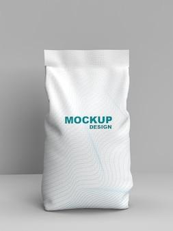 Maquete de embalagem de farinha