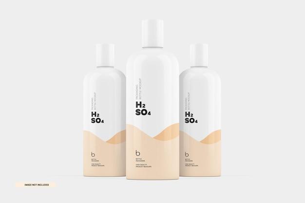 Maquete de embalagem de frasco de xampu