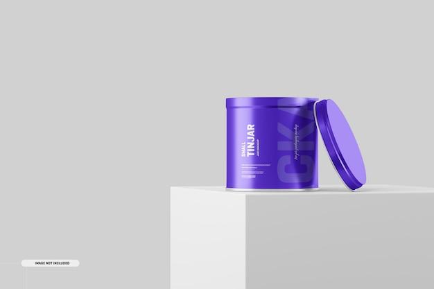 Maquete de embalagem de frasco pequeno