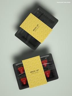 Maquete de embalagem de frutas