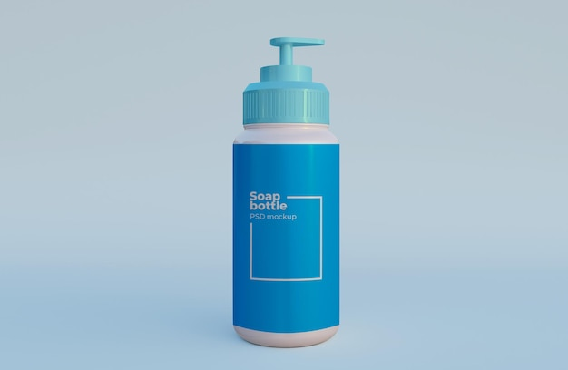 Maquete de embalagem de garrafa de sabão