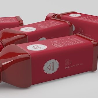 Maquete de embalagem de garrafa de suco de fruta