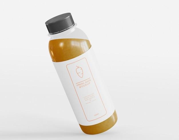 Maquete de embalagem de garrafa de suco