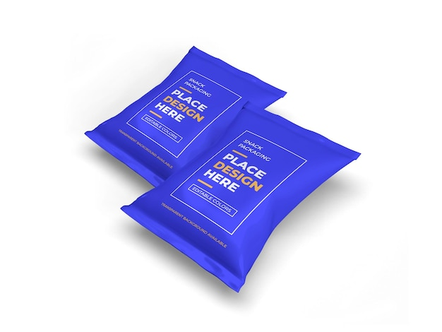 Maquete de embalagem de lanche isolada