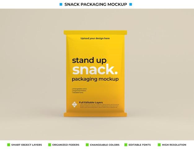 Maquete de embalagem de lanche no conceito de produto